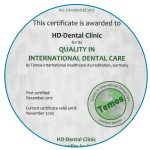 HD Dental - Temos Certificate