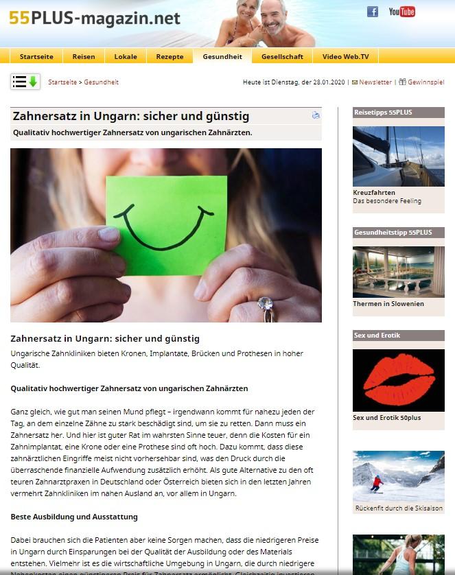 HD-Dental auf 55PLUS-magazin.net